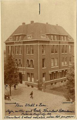 Rotterdami konsulaadi esimene asukoht aadressil Pieter de Hoochweg 108. Foto: Riigiarhiiv