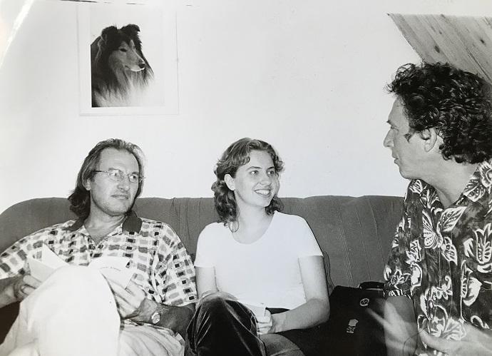 Op de foto: links Tõnu Kaljuste (dirigent uit Estland) tijdens een Baltische middag in Hilversum, rechts dirigent Paul de Boer. Foto: privé-archieven van Paul de Boer