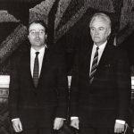 Since 1991 Egbert Frederik Jacobs  Photo: Jacobs (on the left) and Chairman of the Supreme Council of the Republic of Estonia Arnold Rüütel Source: Estonian Ministry of Foreign Affairs, Voldemar Maask