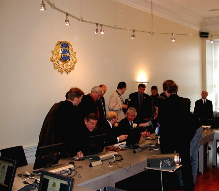 Madalmaade peaminister Wim Kok Eestis Foto: EV välisministeerium