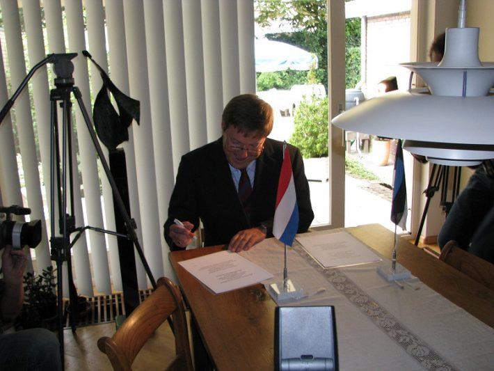 Nick van de Griendt. Foto: Eesti saatkond Haagis