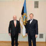 Since 2013 Jos Schellaars  Photo: Schellaars (on the left) presenting his credentials to President Toomas Hendrik Ilves. Source: Estonian Ministry of Foreign Affairs, Erik Peinar