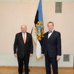 Alates 2013 Jos Schellaars  Fotol Schellaars (vasakul) volikirjade üleandmisel president Toomas Hendrik Ilvesele.  Foto: EV välisministeerium, Erik Peinar