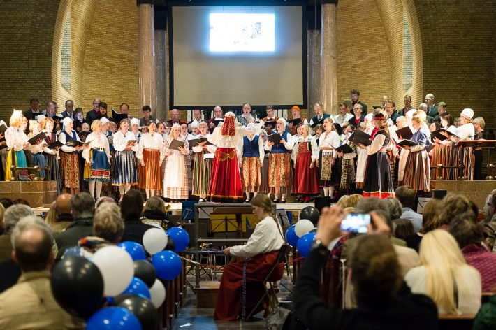 Op de foto: optreden in Amsterdam in de Hofkerk. Foto: Estonian House in Nederland