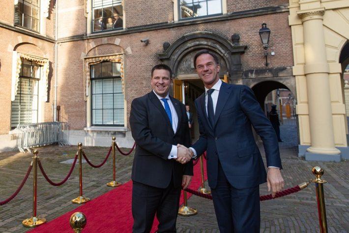 Fotol Ratas (vasakul) koos Madalmaade peaministri Mark Rutte´ga Foto: Riigikantselei