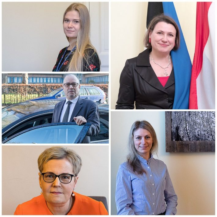 Eesti saatkonna Haagis töötajad 2021. aastal. Foto: Eesti saatkond Haagis