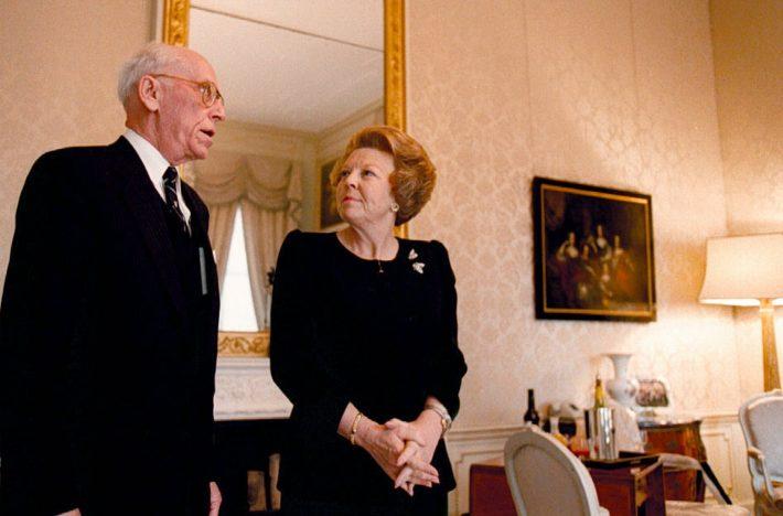 President Lennart Meri ja kuninganna Beatrix kohtumisel Haagis Foto: ANP Foto, fotograaf Ed Oudenaarden