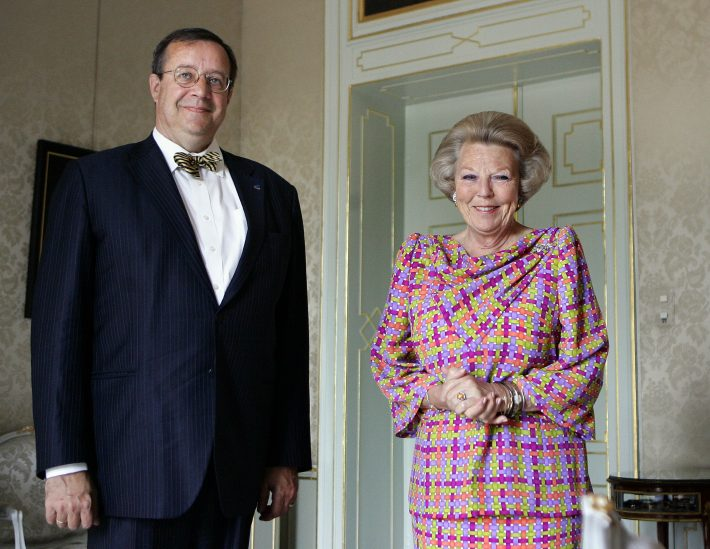President Toomas Hendrik Ilves and Queen Beatrix in The Hague. Photo: ANP PHOTO ROYAL IMAGES ED OUDENAARDEN