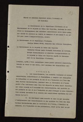Het allereerste Nederlands-Estse handelsverdrag in het Frans. Foto: Nationaal Archief Estland